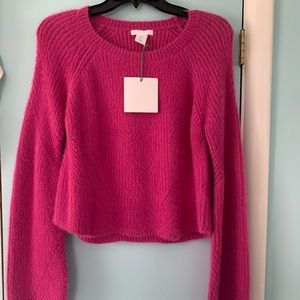 PURE/us NWT hot pink soft sweater